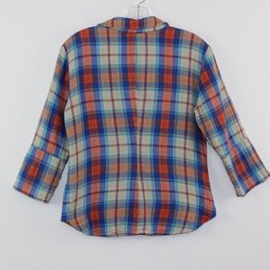Glam Tops - Glam Plaid 3/4 Button Down Shirt